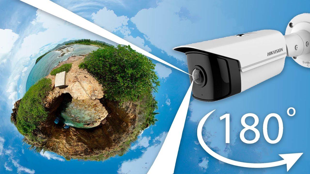 IP камера Hikvision DS-2CD2T45G0P-I с углом обзора 180°. Обзор, сравнение видео