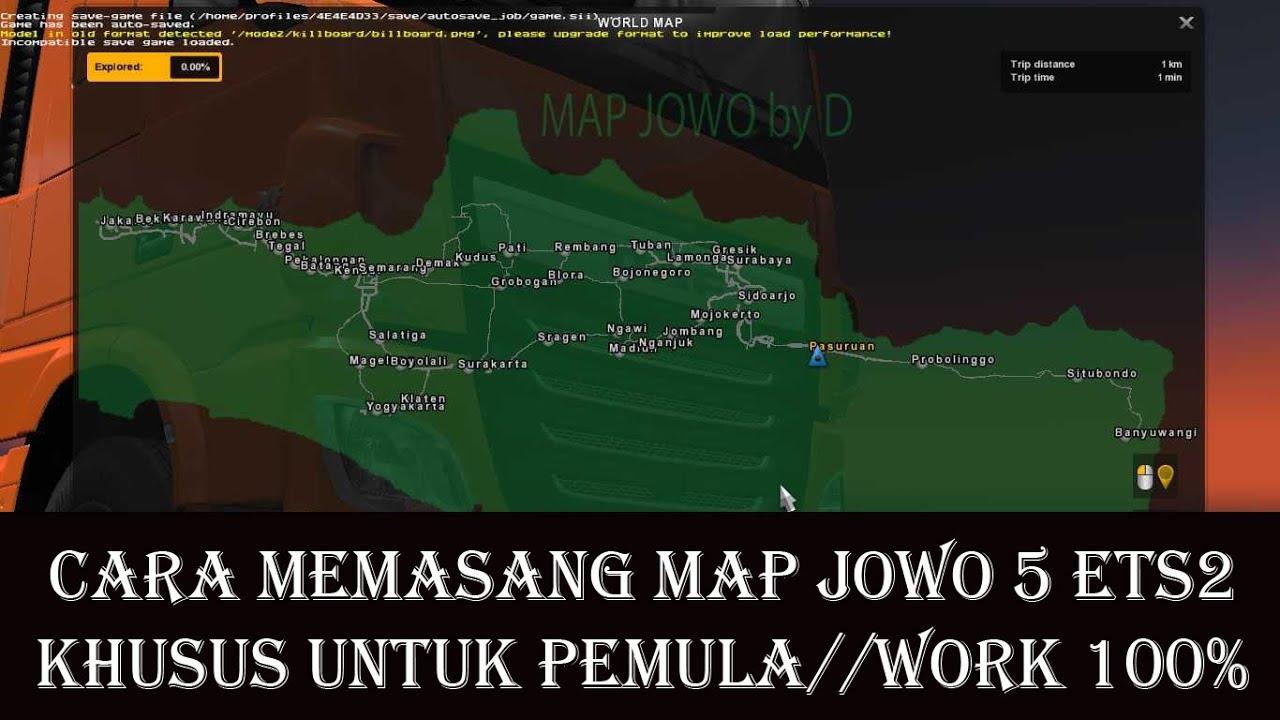 download mod map jowo v5 ets2 v1.23
