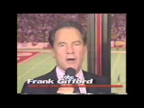 Monday Night Football opening with Frank Gifford 1989