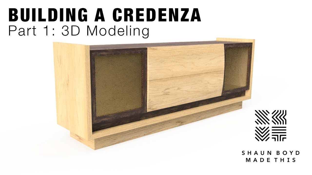 3D Modeling Furniture with Fusion 360 - Modern Credenza Build - Part 1