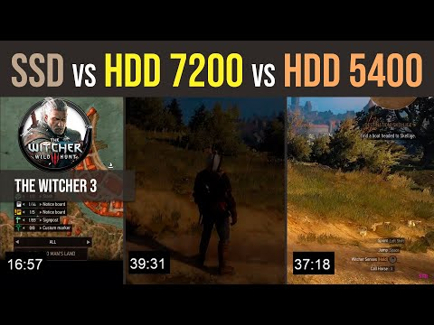 EVO 850 SSD VS HDD 1TB 7200 rpm VS HDD 1TB WD Red 5400 rpm The Witcher 3