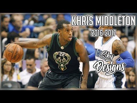 Khris Middleton Official 2016-2017 Season Highlights // 14.7 PPG, 4.2 RPG, 3.4 APG
