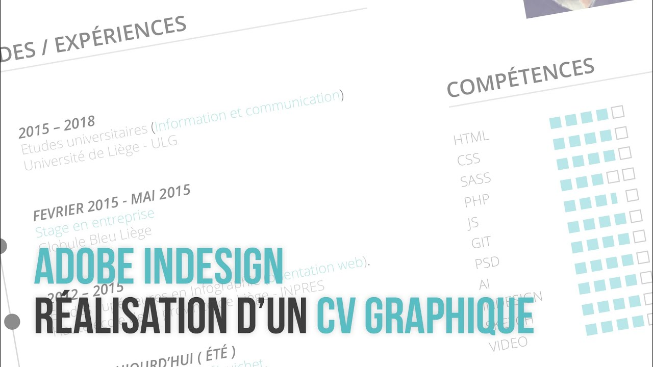 Favori Indesign] Création d'un curriculum vitae Graphique - YouTube EB62