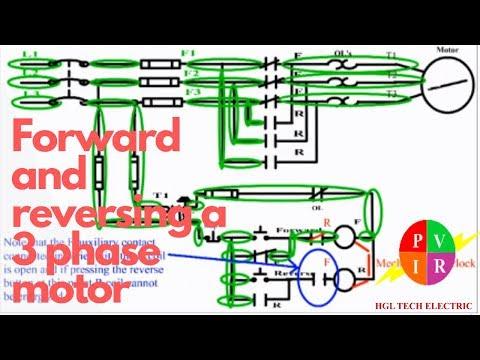electrical interlock motor control forward reverse forward reverse forward reverse motor control forward reverse circuit diagram reversing a three phase motor