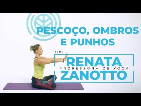 Websérie - Aula de yoga para iniciantes: yoga para pescoço, ombros e punhos   Renata Zanotto