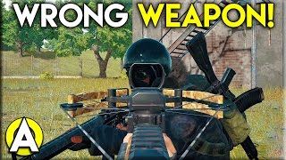 Wrong Weapon! - PLAYERUNKNOWN'S BATTLEGROUNDS (Squad Gameplay)