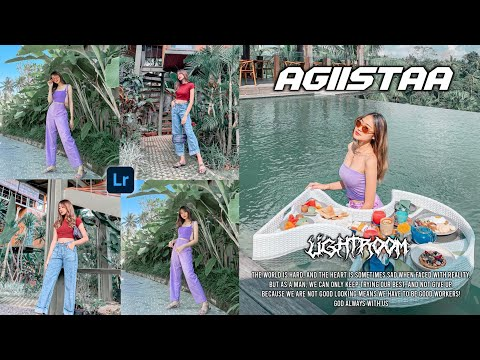 Tutorial Cara Edit Foto Ala Selebgram Seperti Feed Instagram @agiistaa - Lightroom Mobile Tutorial