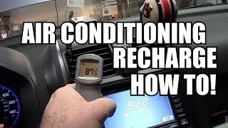HOW TO: HONDA A/C System Recharge - EASY!