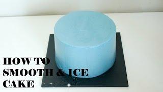 how to smooth ice cake 케이크 아이싱 하는 방법