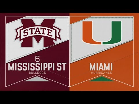 2019 NCAA Baseball Tournament Mississippi State Vs Miami Fla 6 2 2019