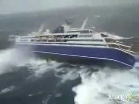 Cruiseliner Gets Fliped After Getting Smashed By Tsunami