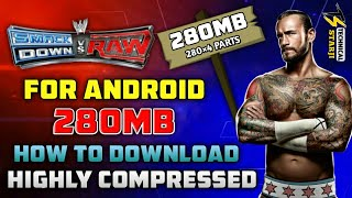 [280MB] Highly Compressed WWE Smackdown vs Raw 2011 ppsspp iso download Android | Hindi/Urdu