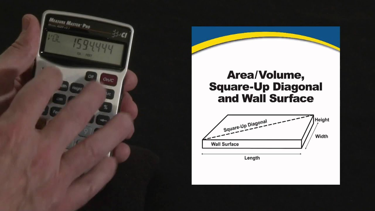 Measure Master Pro Area, Volume, Squareup Diagonal Calculations How To Ex:  Find The Area Of A Rectangle Given The Perimeter