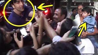 Ranbir Kapoor & Taimur Ali Khan Fans Go Crazy at Christmas Party 2018
