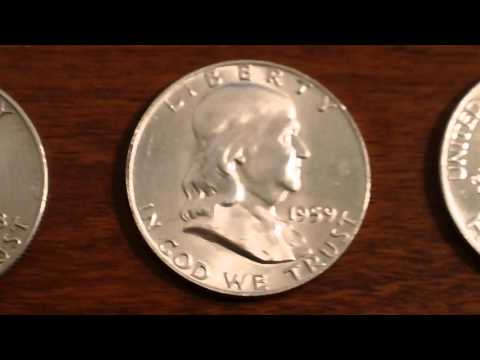 1948-1963 Silver Franklin Half Dollars - Great Investor Bullion For Melt!