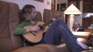 Here's Macyn Taylor noodling around on her new Petros Parlor guitar...