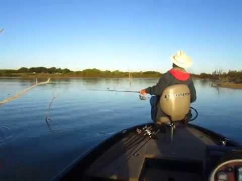 Dick bass fishing on lake lavon texas youtube for Lake lavon fishing