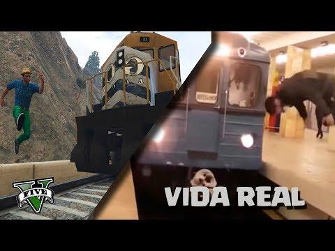 GTA V VS REAL LIFE  ! FAILS DE LA VIDA REAL EN GTA 5 - ElChurches