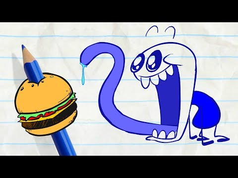 Pencilmate Pigs Out! -in- FOOD FIGHTERS - PENCILMATION Cartoons for Kids