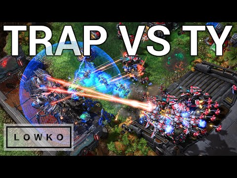 StarCraft 2: TOP-LEVEL PROTOSS VS TERRAN! (Trap Vs TY)