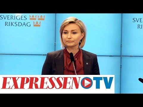 Ebba Busch Thor (KD) höll pressträff