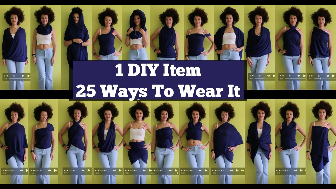 How To Make A Diy Travel Infinity Scarf And Wear It 25