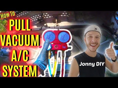 How To Pull a Vacuum on Car's A/C System -Jonny DIY - YouTube