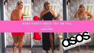 ASOS PARTY DRESS FAIL //  Size 12  // TRY ON HAUL