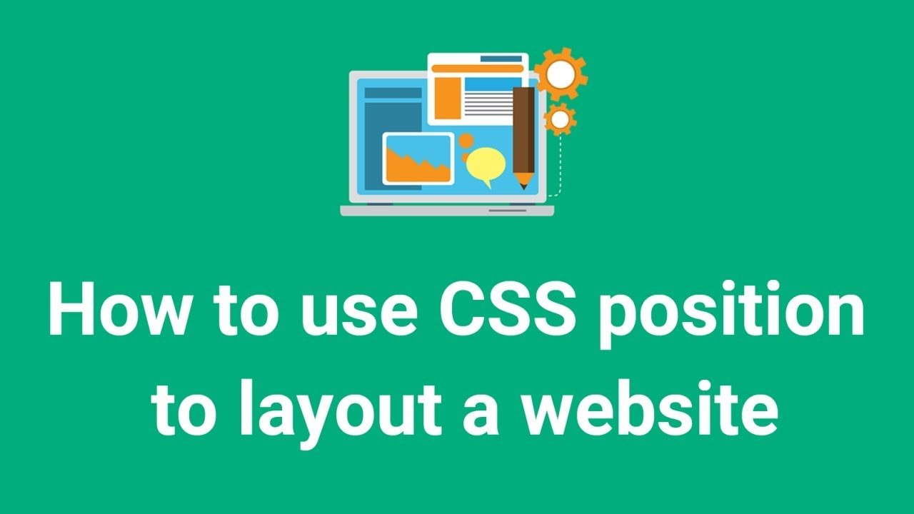 How to use CSS position to layout a website (example code