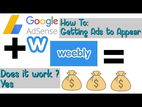 How To: Getting Ads On Weebly