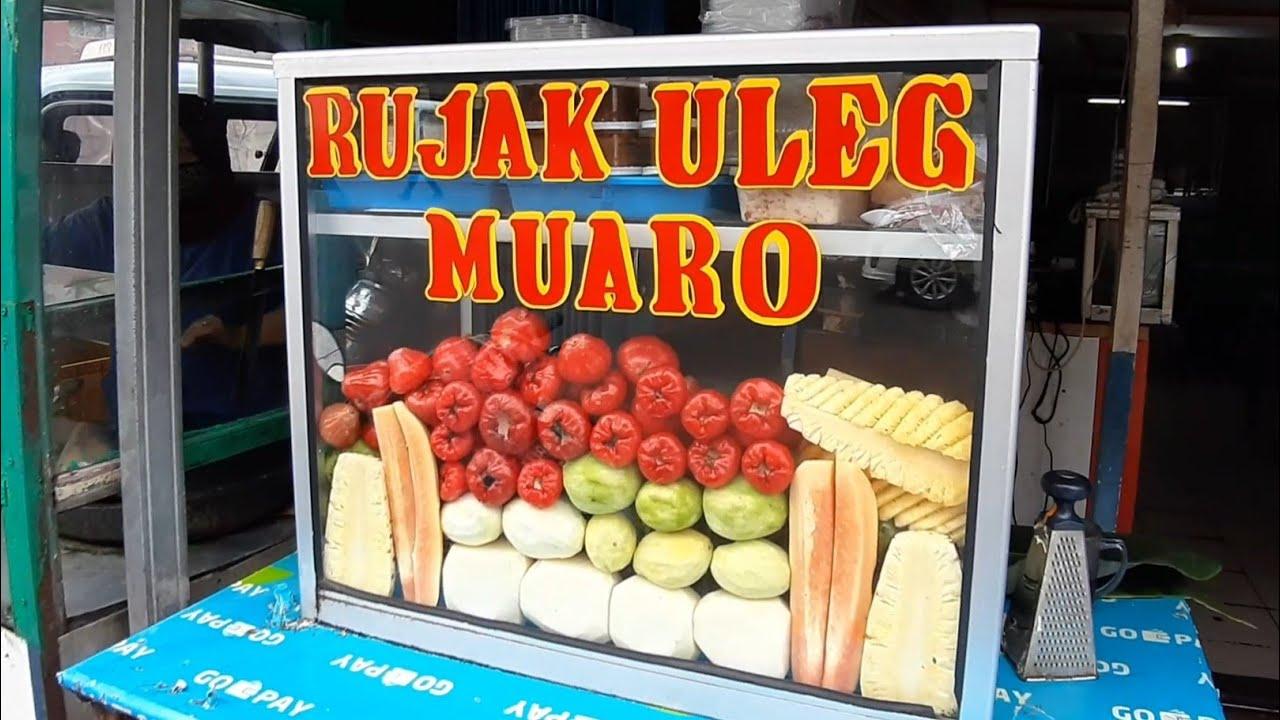 RUJAK PADANG !!! ULEKANNYA GEDE BANGET - INDONESIAN STREET FOOD