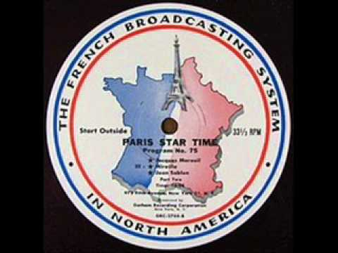 JEAN SABLON on French Radio LIVE 1954 Pt 2