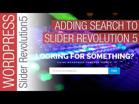 How To Add a Search Function to Slider Revolution 5 Slider - 동영상