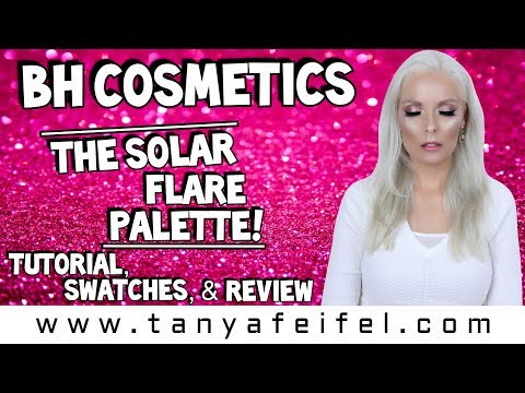 BH Cosmetics | The Solar Flare Palette! | Tutorial, Swatches, & Review | Tanya Feifel-Rhodes