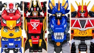 PowerRangers MegaForce GoOnger DinoCharge DX Megazord VS Dinocore Cerato Transformation