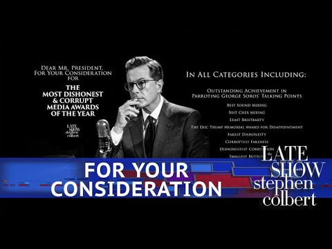 Stephen Took Out A Billboard For Trump's 'Dishonest Media Awards'