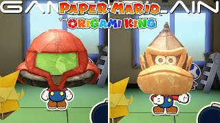 We Try on the Nintendo Heads in Paper Mario: The Origami King (Samus, Donkey Kong, & Goomba!)