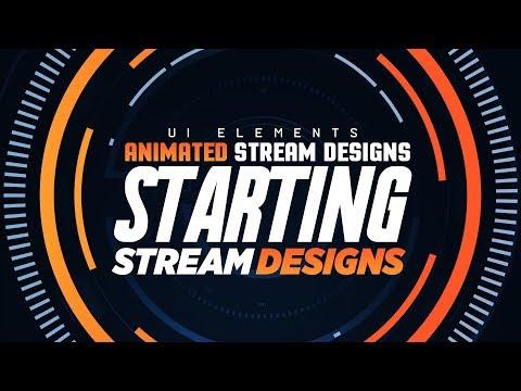 AI/PS/AE Tutorial: Animated Stream Designs: Clean UI Elements