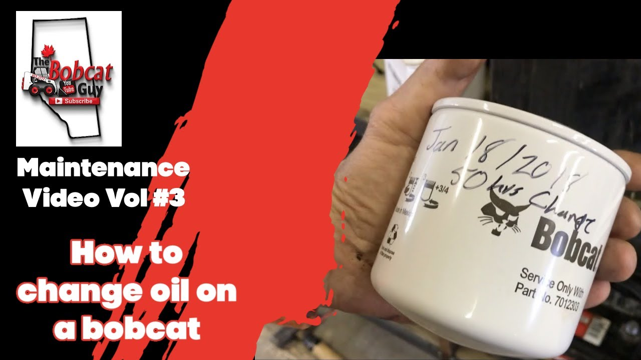 How to change oil on a bobcat