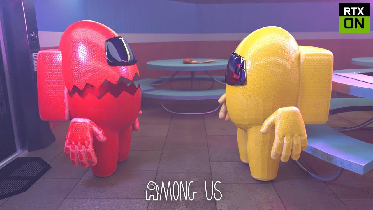 Among Us Rtx On 3d Kill Animation Youtube