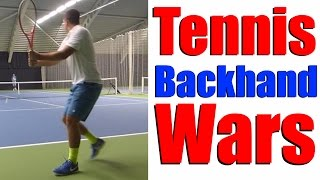 Video Backhand WAR - Tennis Backhand Drills download MP3, 3GP, MP4, WEBM, AVI, FLV Juni 2018