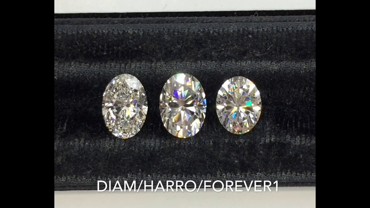 Diamond Vs Harro Gem Vs Forever One Moissanite Youtube