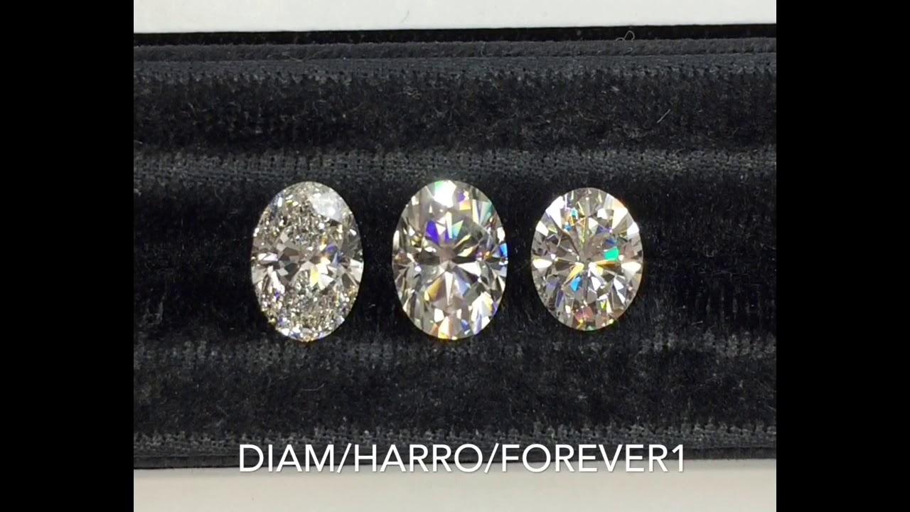 Diamond VS Harro Gem VS Forever One Moissanite  YouTube