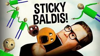 STICKY BALDIS!!! (Sticky Bodies with Annoying Orange HACKS!!!)
