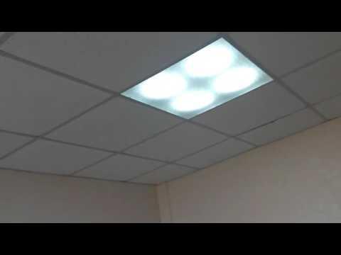 Видео потолочных светодиодных светильников для офиса