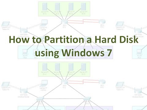How to Partition a Hard Disk using Windows 7 (No Audio)