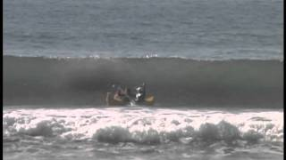 Kayakers get DESTROYED by big wave