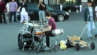 Amazing Street Drummer THE BEST (...Baard Kolstad...)