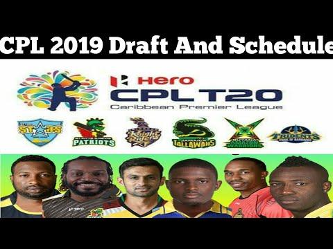 Caribbean Premier League 2019 Schedule And Draft Date | CPL 2019 Schedule & Draft