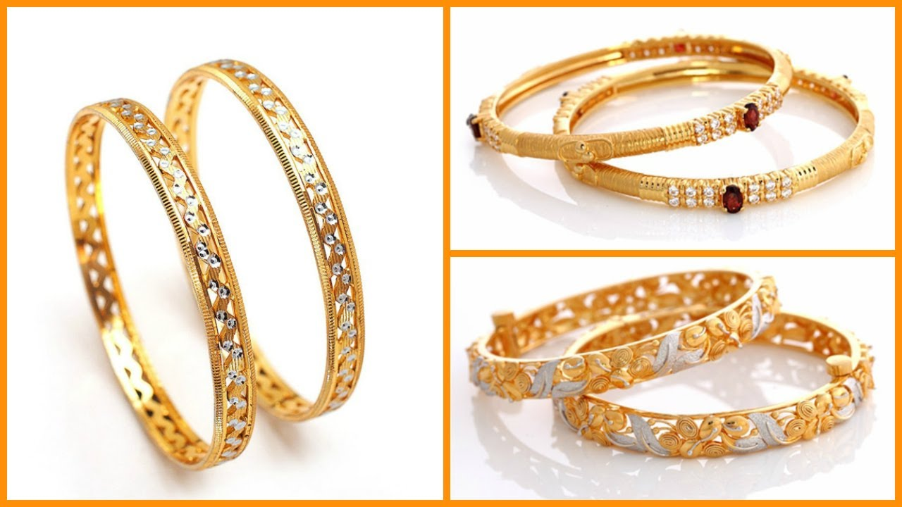 Light Weight Gold Bangles Designs Under 20 Grams - YouTube